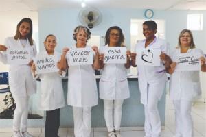 membros da equipe de enfermagem Santa Casa de Andradina 1